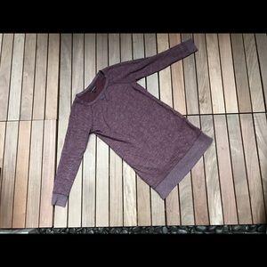 BANANA REPUBLIC Long Purple Sweater w Zippers